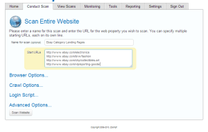 Start URLs